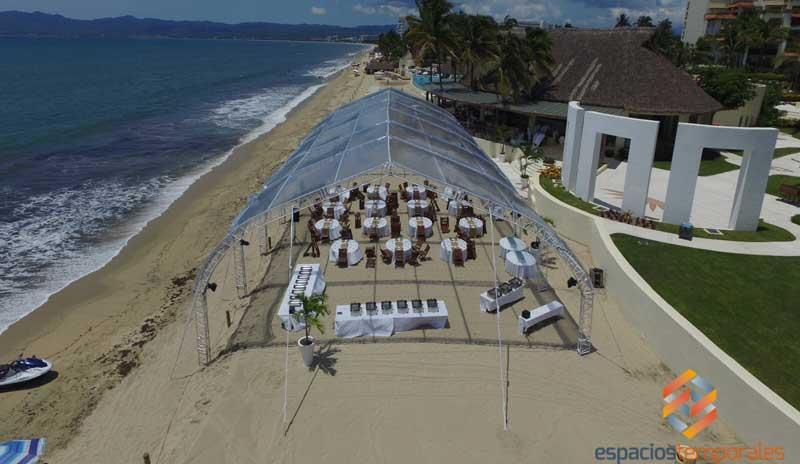carpa para playa, carpa transparente para playa