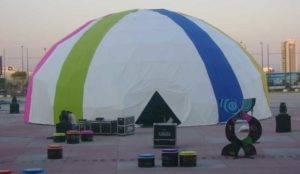 domo con diseño, domo gigante, carpa geodesica