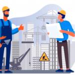 ilustración de plantación de construcción